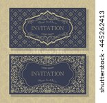 set of template greeting card ... | Shutterstock .eps vector #445262413