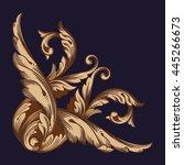 vintage baroque ornament. retro ... | Shutterstock .eps vector #445266673