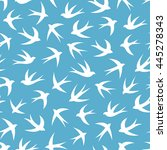 seamless pattern with a flock... | Shutterstock .eps vector #445278343