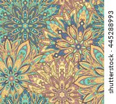 seamless mandala pattern for... | Shutterstock . vector #445288993