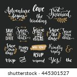 save the date collection with... | Shutterstock . vector #445301527