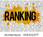 ranking word cloud collage ... | Shutterstock .eps vector #445322377