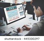 www website internet technology ... | Shutterstock . vector #445330297