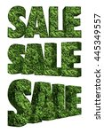 3d rendered nature text of sale ... | Shutterstock . vector #445349557