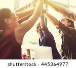 agreement cooperation...   Shutterstock . vector #445364977