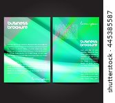 vector brochure template design ... | Shutterstock .eps vector #445385587