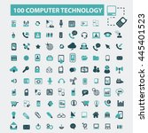 computer technology icons | Shutterstock .eps vector #445401523
