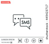 sms sign icon   Shutterstock .eps vector #445423717
