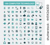 computer technology icons | Shutterstock .eps vector #445426303