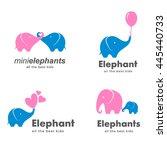 vector set of logos for... | Shutterstock .eps vector #445440733