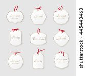 set of paper labels with... | Shutterstock .eps vector #445443463