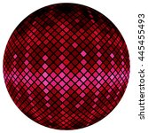 Pink Mosaic Ball  Isolated On ...