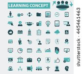 learning concept icons | Shutterstock .eps vector #445461463