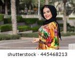 girl in abaya | Shutterstock . vector #445468213