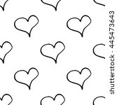 abstract heart pattern with... | Shutterstock .eps vector #445473643