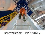 engineering climb up to oil and ... | Shutterstock . vector #445478617