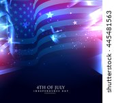 American Flag In Abstract...