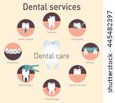 medical infografics  dental... | Shutterstock .eps vector #445482397