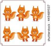 set vector illustrations... | Shutterstock .eps vector #445489537