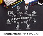 scholarship chart with keywords ... | Shutterstock . vector #445497277
