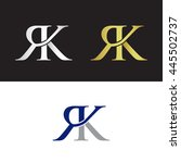 elegant initials with letter r...   Shutterstock .eps vector #445502737