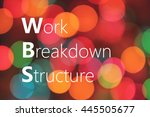 wbs  work breakdown structure ... | Shutterstock . vector #445505677