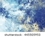 artistic splashes of bright... | Shutterstock . vector #445505953