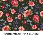 seamless cuban floral pattern... | Shutterstock .eps vector #445510783