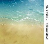 vector beautiful beach top view.... | Shutterstock .eps vector #445515787