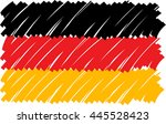german flag painted with large... | Shutterstock .eps vector #445528423