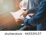 architects concept  architects... | Shutterstock . vector #445539157