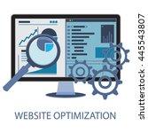 vector illustration of website...   Shutterstock .eps vector #445543807