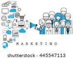 marketing team on white... | Shutterstock .eps vector #445547113