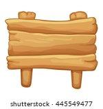 wooden sign | Shutterstock .eps vector #445549477