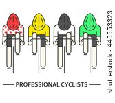 modern illustration of cyclists.... | Shutterstock .eps vector #445553323