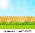 garden background with green... | Shutterstock .eps vector #445560037