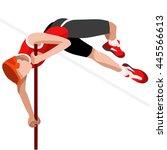 athletics pole vault 2016... | Shutterstock . vector #445566613