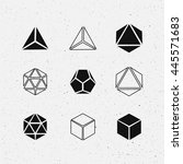 geometric solids set.  design.