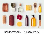 bathroom and body care mock up... | Shutterstock . vector #445574977