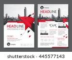 brochure template design.... | Shutterstock .eps vector #445577143