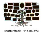 family tree template with... | Shutterstock .eps vector #445583593