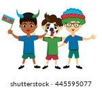 fan of azerbaijan national... | Shutterstock .eps vector #445595077