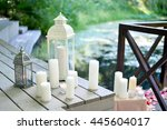 Wedding Candles Near Lake