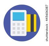 card terminal vector icon | Shutterstock .eps vector #445606387