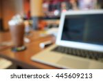 blurred abstract background of... | Shutterstock . vector #445609213