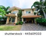 modern house in the garden | Shutterstock . vector #445609333