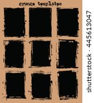 grunge templates vector 1 | Shutterstock .eps vector #445613047