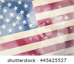 american flag background  4th...   Shutterstock . vector #445625527