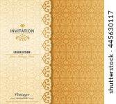 elegant ornament invitation... | Shutterstock .eps vector #445630117