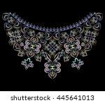 neckline ethnic design.... | Shutterstock .eps vector #445641013